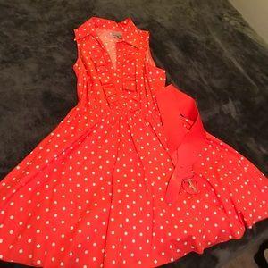 Dresses & Skirts - Bailey Blue polka dot dress